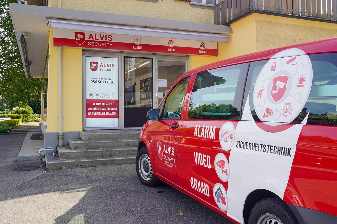 Eingang zu Showroom von ALVIS Security GmbH